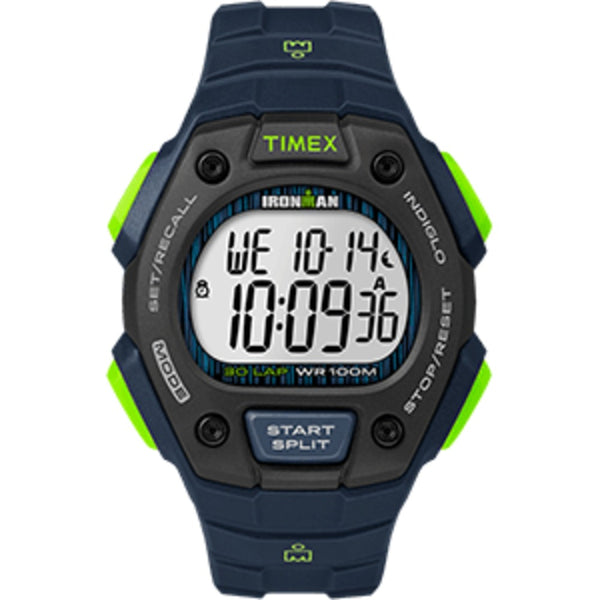 Timex IRONMAN® Classic 30 Full-Size Watch - Blue/Lime