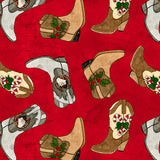 GIDDYUP SANTA BUFFALO PLAID