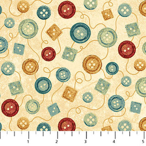 39358-11 CREAM A STITCH IN TIME - BUTTONS