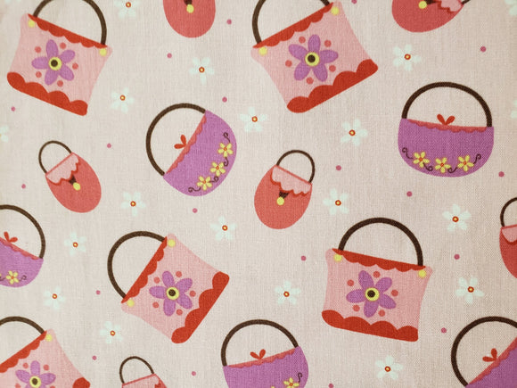 GIRLY GIRLY 9649-22 PURSES ON PINK BACKGROUND