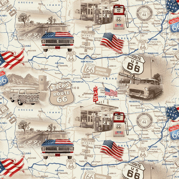 ALL-AMERICAN ROAD TRIP  4314-33, ROUTE 66 MAP