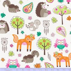 WOODLAND GYPSY R37-9700-0146 FORREST ANIMALS WHITE