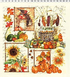 AUTUMN SPLENDOR Y1221P-2 CREAM PANEL
