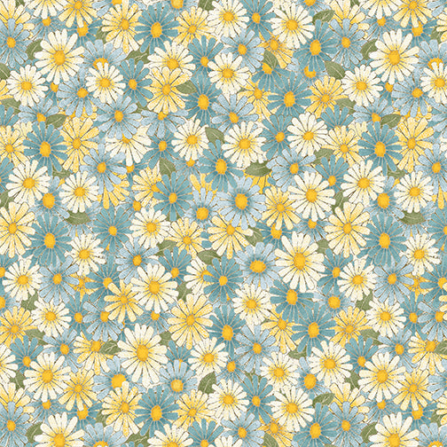 MY SECRET GARDEN 7683 DAISIES BLUE