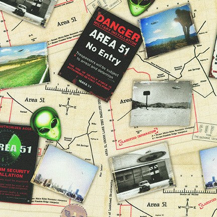 AREA 51 AXED-19545-283 EERIE MAPS AND SIGNS