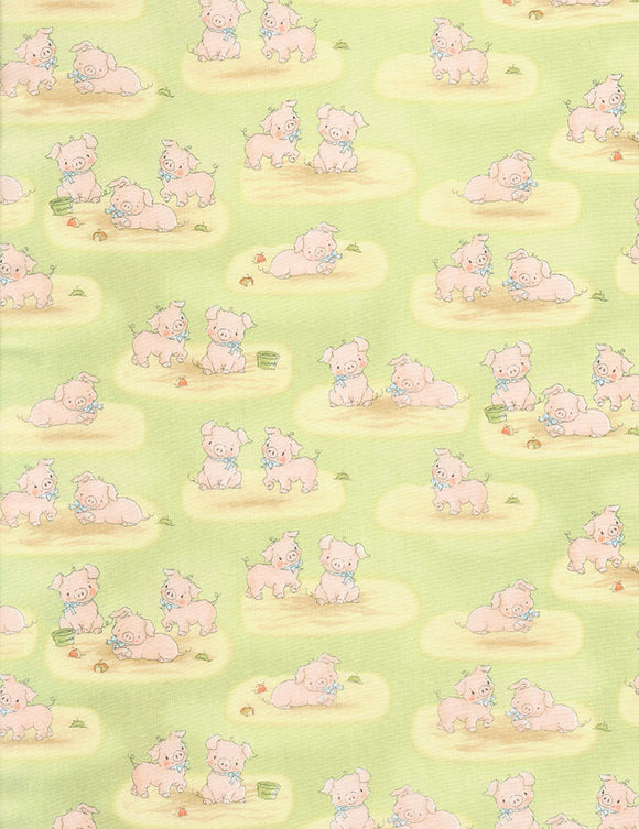 PIGS  BUNNIES-C5830 GREEN