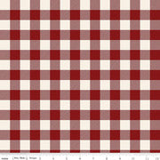 CHRISTMAS TRADITIONS C9595 PLAID RED