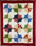 """CHRISTMAS DOUBLE SQUARE STAR"" QUILT KIT"