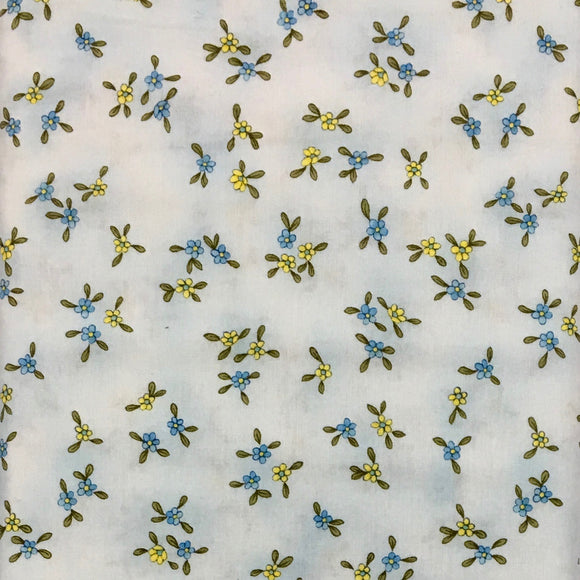Clothworks - Cottage Garden - Light Blue #Y0408-29