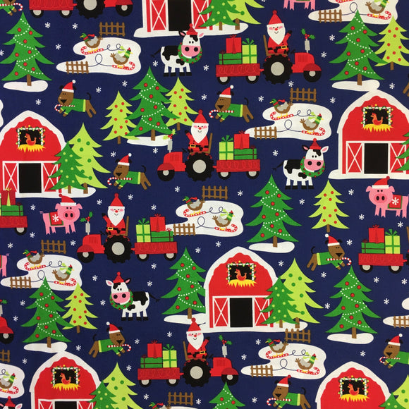 Santa's Farm #CX5956-NAVY-D