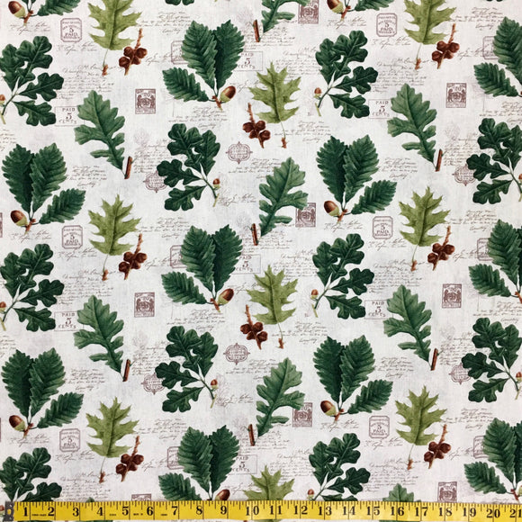 KATIE C5259 CREAM OAK LEAVES