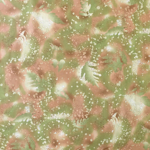 FOSSIL FERN 33 - LIGHT AVOCADO GREEN & TANS
