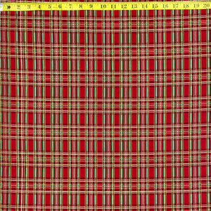CM3286 RED METALIC PLAID