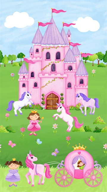 LITTLE PRINCESS 20739P-21 CASTLE PANEL