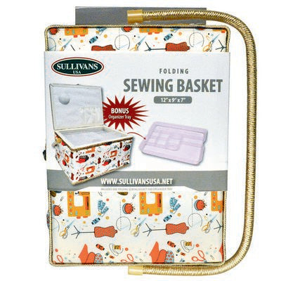 FOLDING SEWING BASKET-SEWING NOTIONS