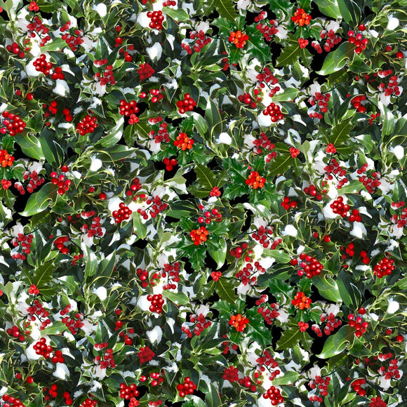 HOLLY BERRIES C7871 GREEN
