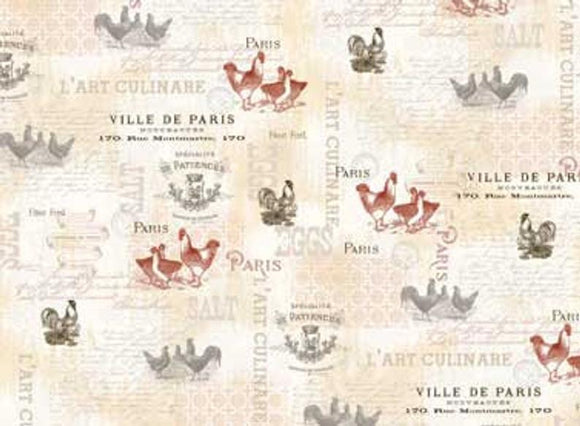FRENCH COUNTRY ROOSTERS 25526-MUL1