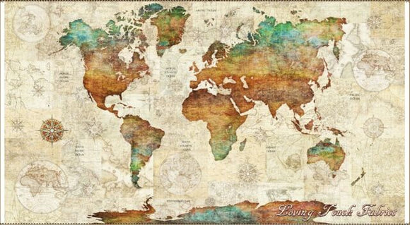 WANDERLUST - WORLD MAP 26726P-X