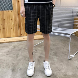 Lattice Print Shorts