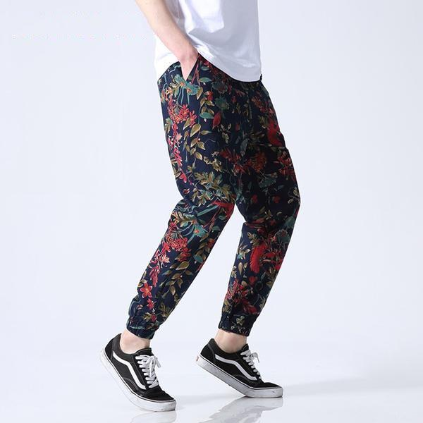 Floral Summer Joggers