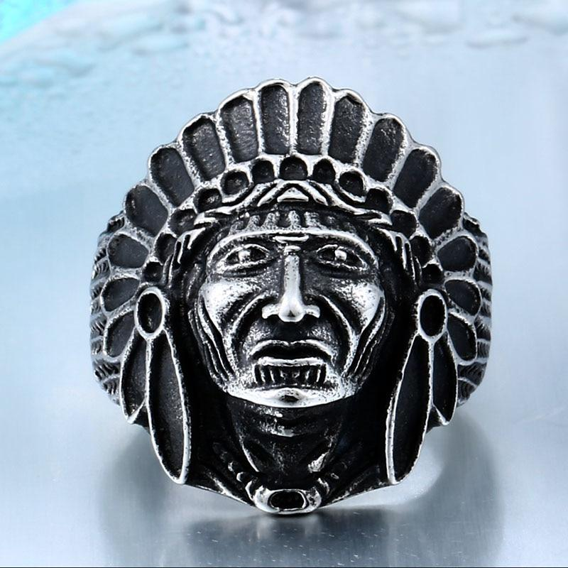 Indian Chief Stainless Steel Ring