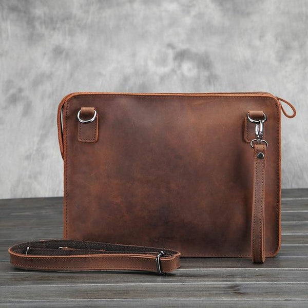 Desi Leather Messenger Bag