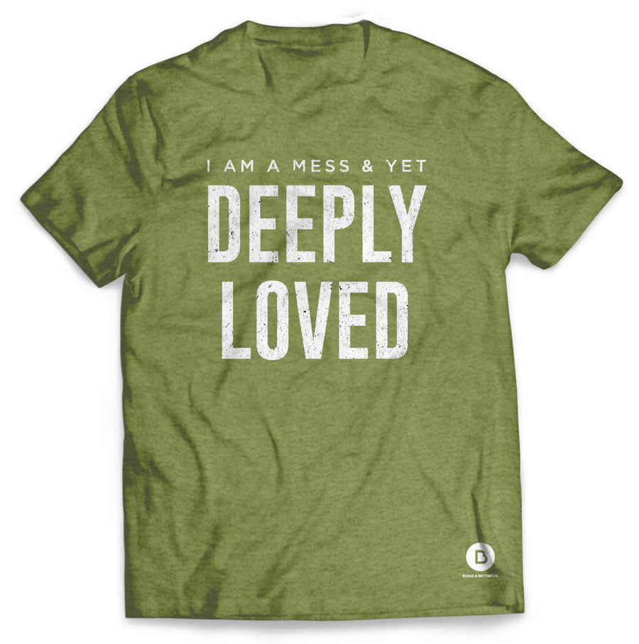Deeply Loved Heather Green Tee