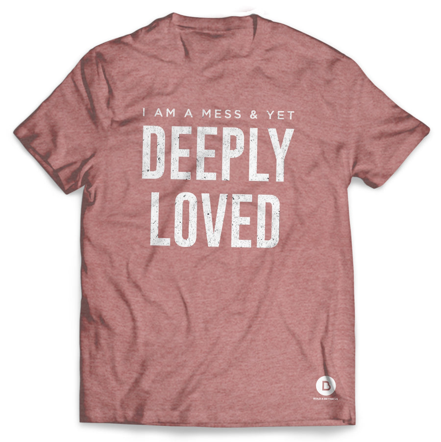 Deeply Loved Heather Mauve Tee