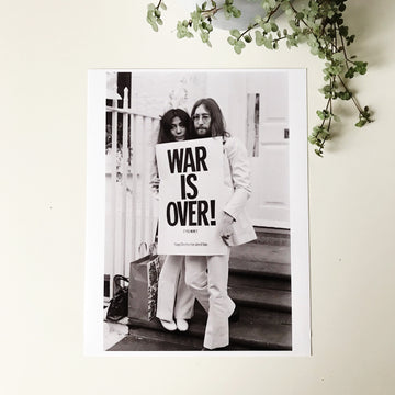 John and Yoko - War Is Over Print