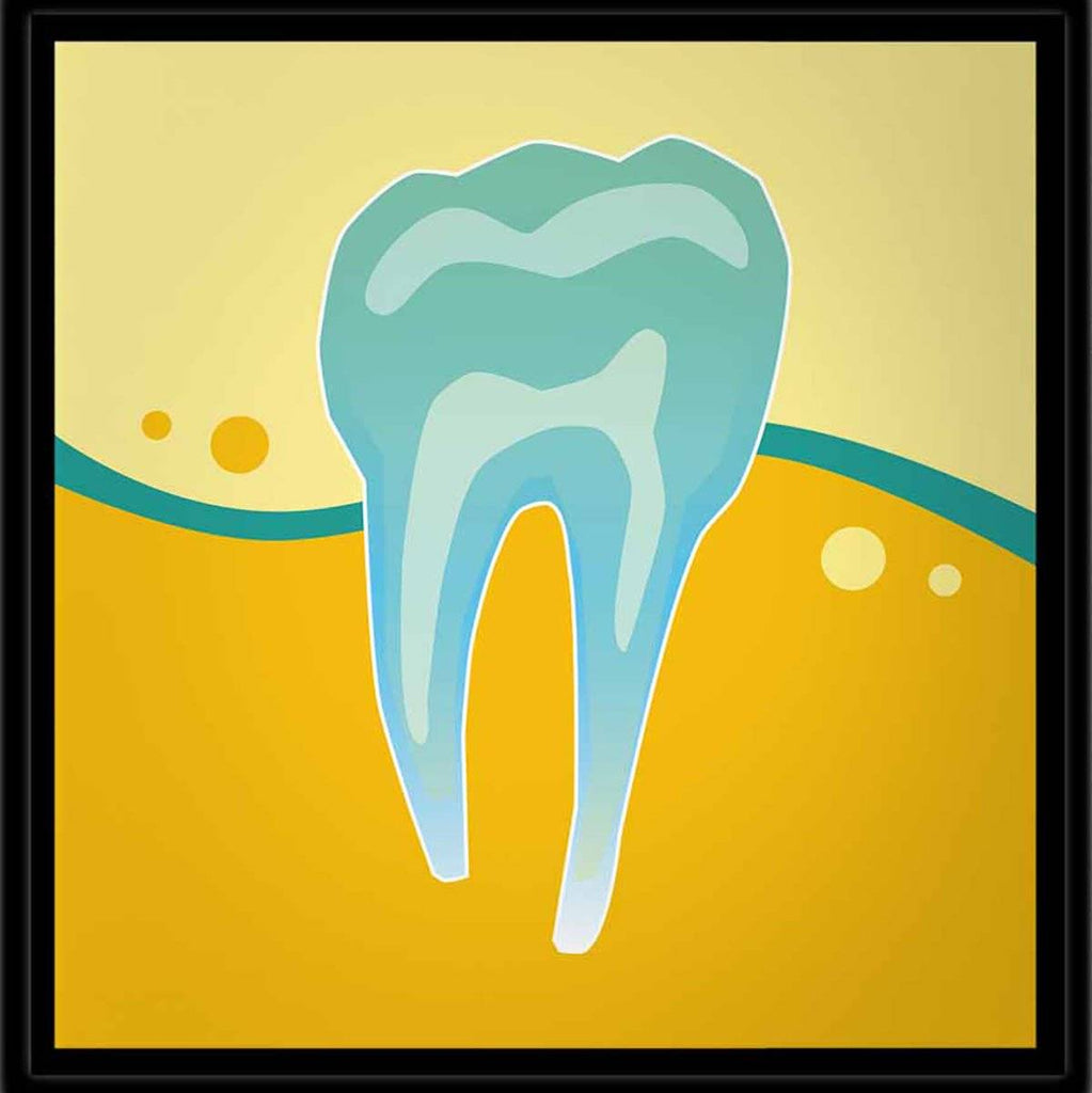Art for Dentists - Tooth X-Ray - Yellow - Canvas Office Wall Art ...