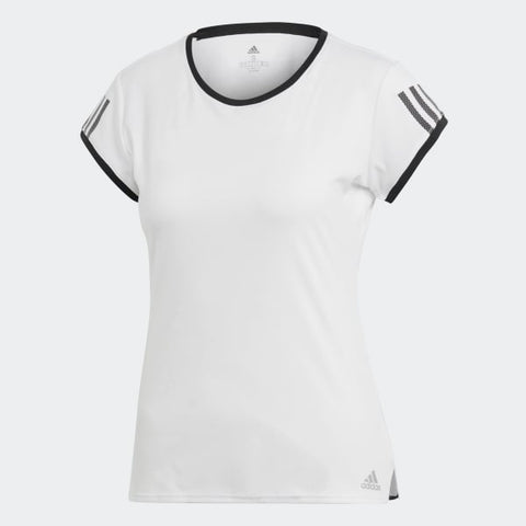 Adidas Women 3-Stripes Club Performance Tee White/Black