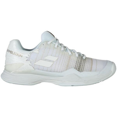Babolat Men Jet Match All Court Wimbledon Tennis Shoes White
