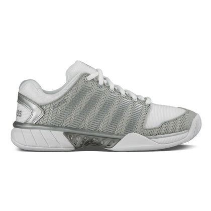 K-Swiss Women HyperCourt Express Tennis Shoes White and Silver