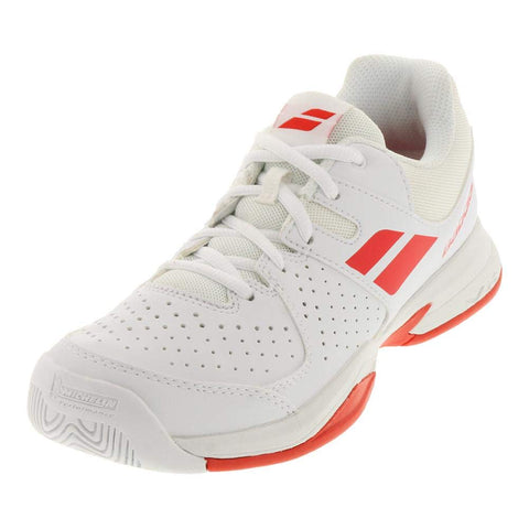 Babolat Junior Pulsion Tennis Shoes White/Red