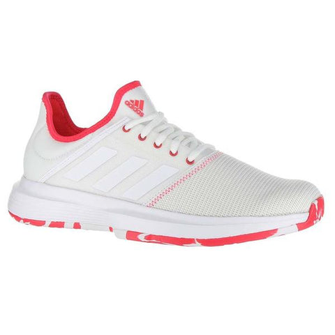 Adidas Women Game Court Multicourt Tennis Shoes White/Pink