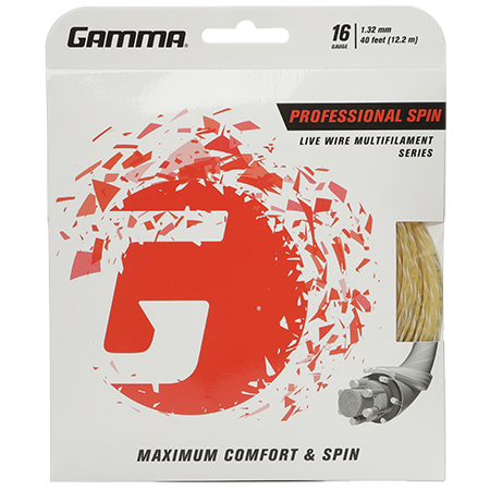 Gamma Live Wire Multifilament Strings Natural 16