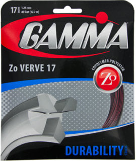 Gamma TNT Zo Verve Poly Strings 17 Black/Red