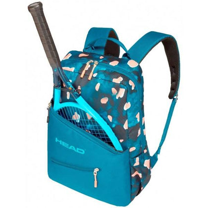 Head Women Tennis Backpack Blue and Coral