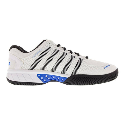 K-Swiss Men Hypercourt Tennis Shoes White/Brilliant Blue