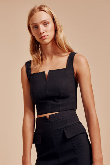 C/MEO COLLECTIVE - IMPULSE TOP - BLACK