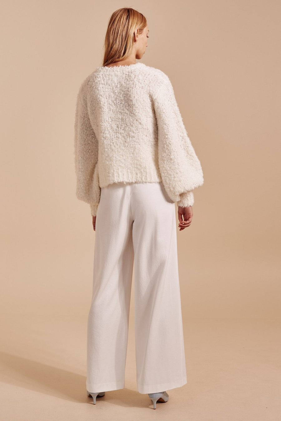 C/MEO COLLECTIVE - SATURATE KNIT JUMPER - IVORY
