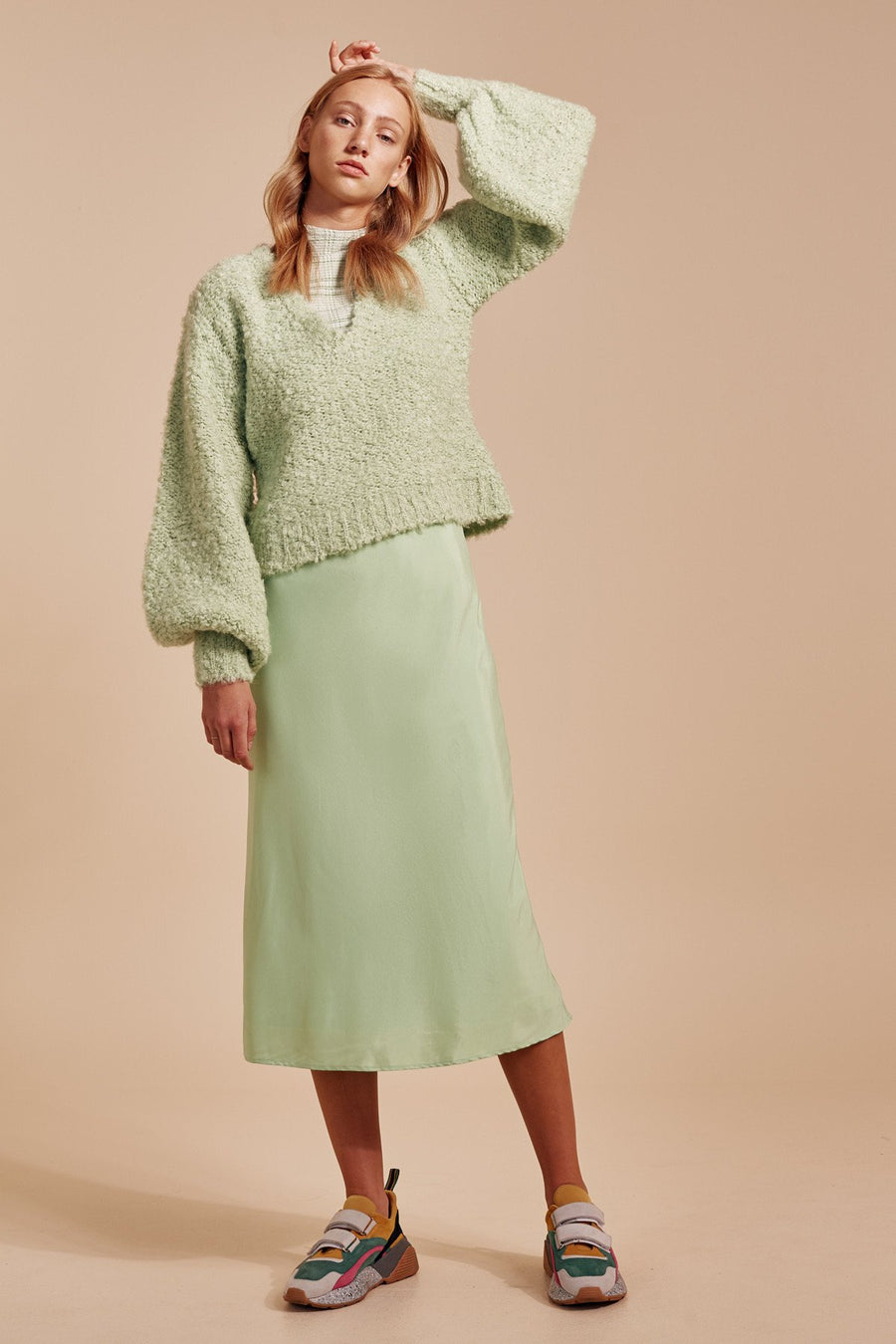 C/MEO COLLECTIVE - SATURATE KNIT JUMPER - MINT