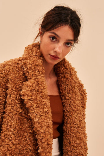 C/MEO COLLECTIVE - ABOUT NOW COAT - TAN