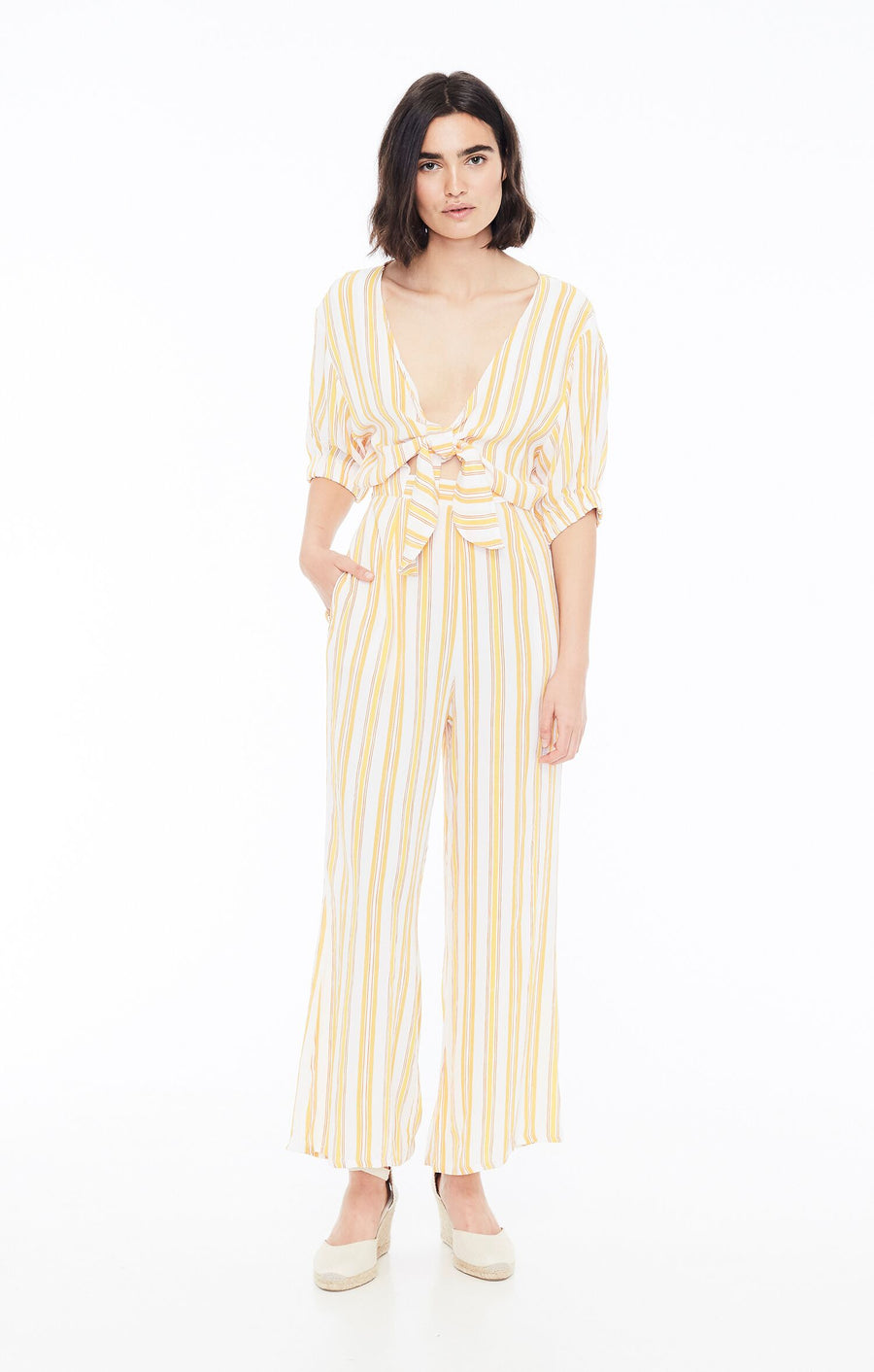 FAITHFULL THE BRAND - Matese Jumpsuit - Azure Stripe