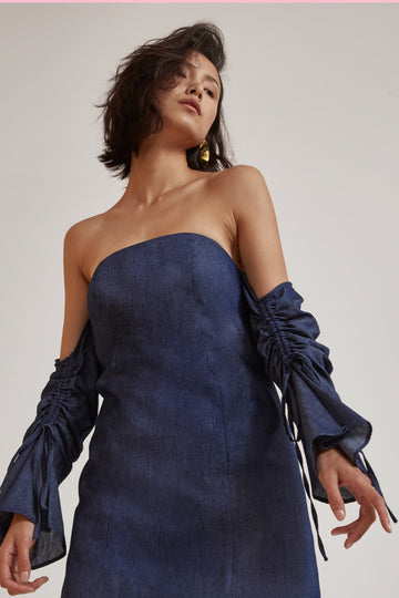 C/MEO COLLECTIVE - Right Kind Of Madness Dress - Indigo