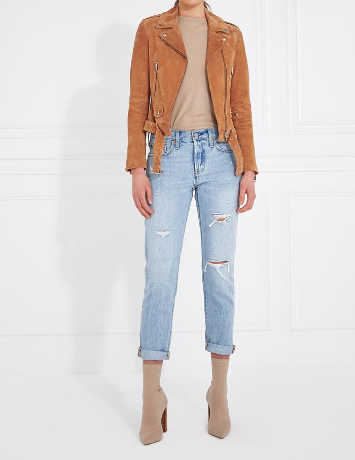 ENA PELLY - New Yorker Biker - Tan Suede