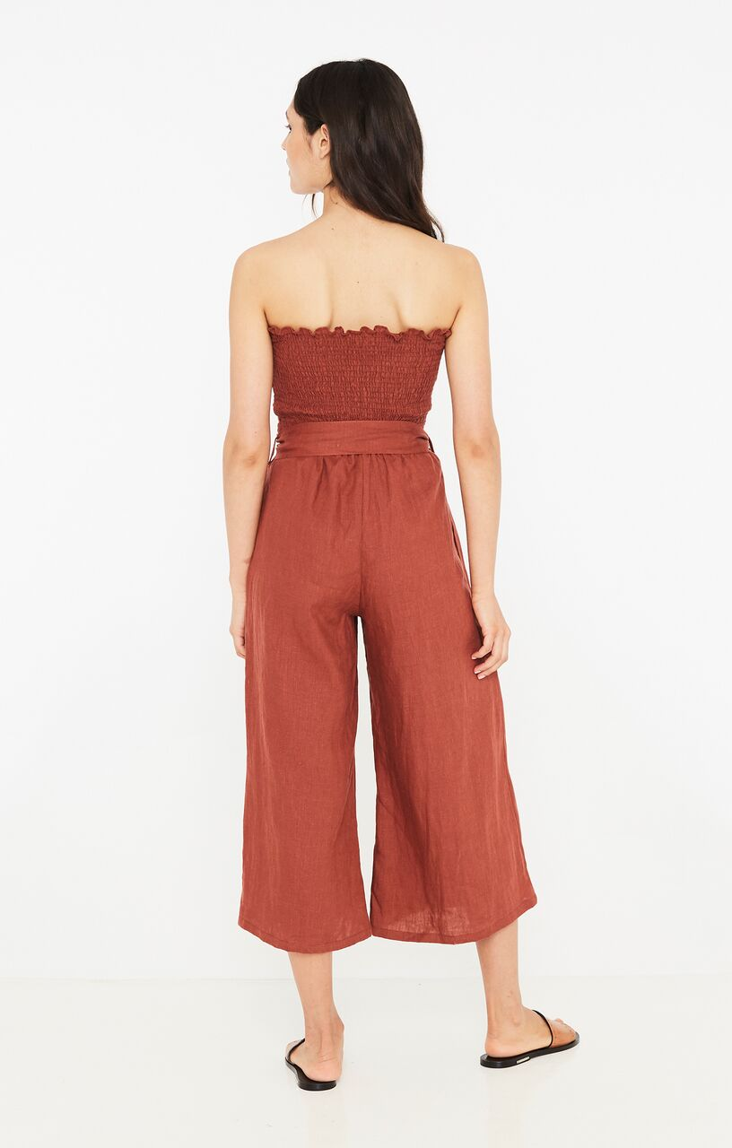 FAITHFULL THE BRAND - Lais Jumpsuit - Plain Sangria