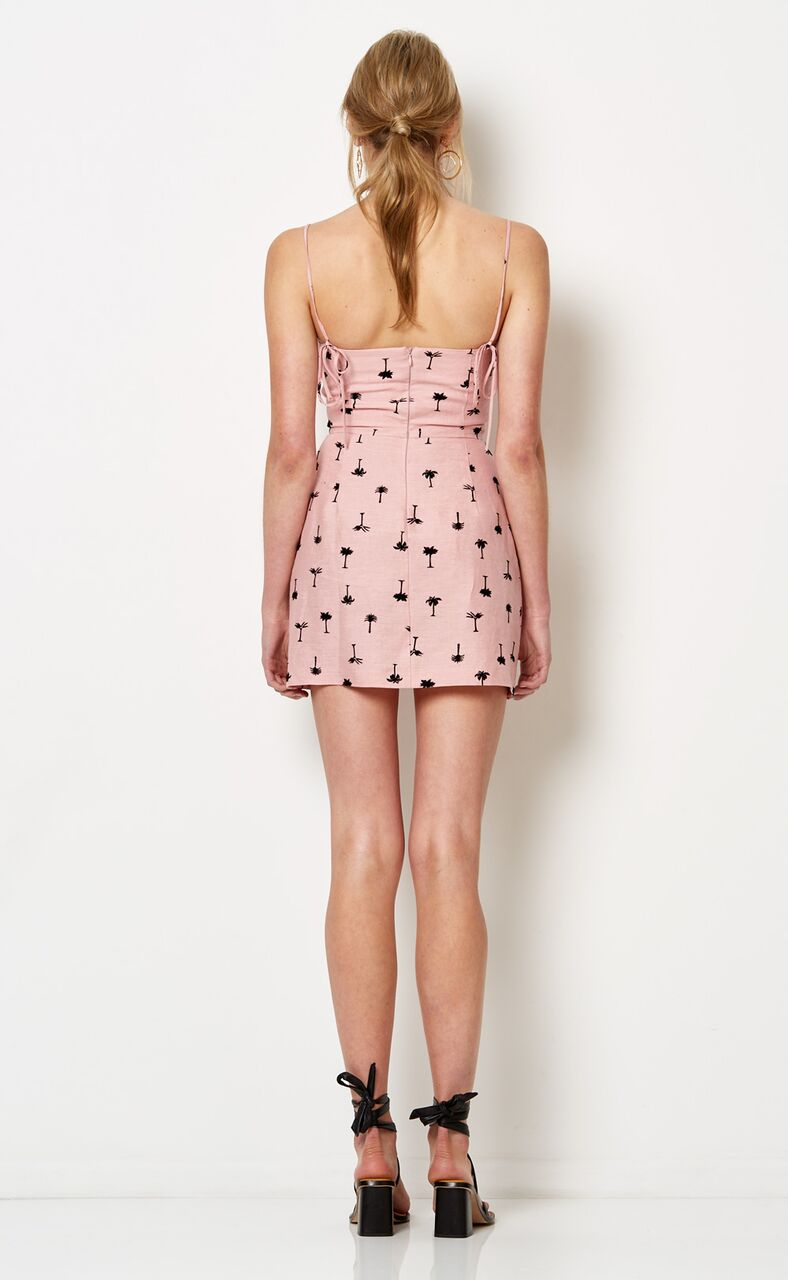 BEC & BRIDGE - Coconut Grove Mini Dress - Pink Palm