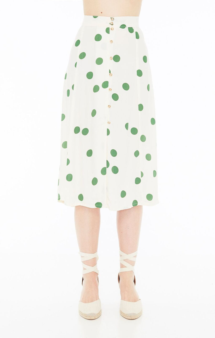 FAITHFULL THE BRAND - MARIN SKIRT - LOLITA DOT