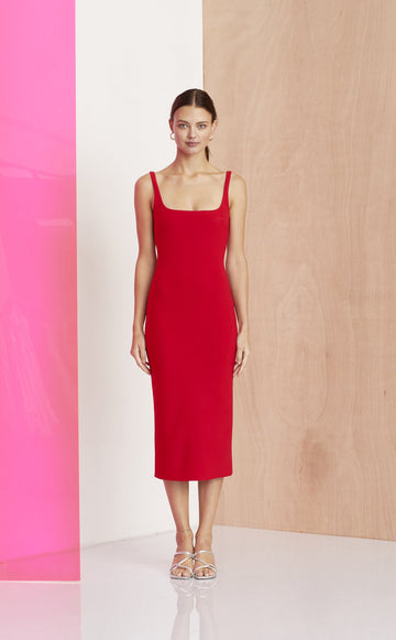 aa97a0ff8863 BEC & BRIDGE - C'est Magnifique Midi Dress - Red
